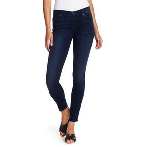 7 For All Mankind/7FAM Gwenevere Mid Rise Skinny Jeans in dark wash size 30